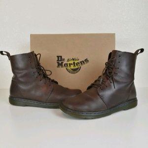 Dr. Martens Brown Leather Combat Boots Doc 7 EUC